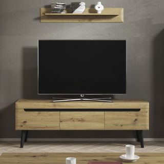 MESA TV NATURAL WOOD MUBANA