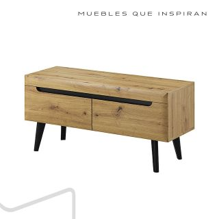 MESA TV M2 NATURAL WOOD MUBANA PERFIL