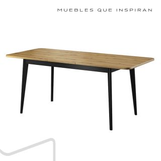 MESA COMEDOR NATURAL WOOD MUBANA PERFIL EXTENSIBLE