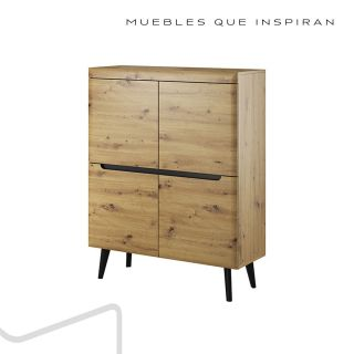 APARADOR M2 NATURAL WOOD MUBANA perfil