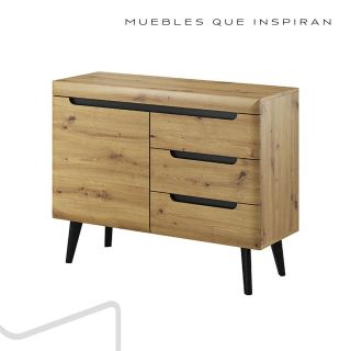 APARADOR M3 NATURAL WOOD MUBANA perfil