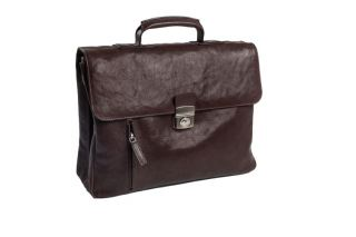 Briefcase leather Wash