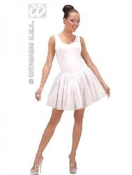 Falda tutu blanca de adulto