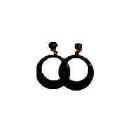 imagen Pendientes sevillana pequeño negro