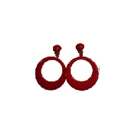 imagen Pendientes sevillana pequeños rojo