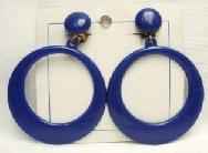 Pendientes de aro grande azul