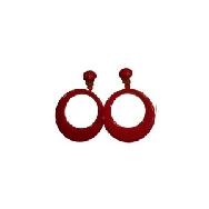 imagen Pendientes de aro grande rojo
