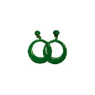 imagen Pendientes de aro grande verde