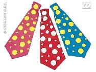 Corbata payaso lunares