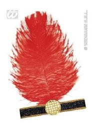 Cinta charleston con pluma