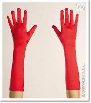 Guantes rojos largos