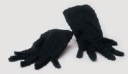 Guantes negros cortos