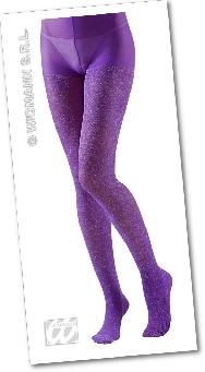 Pantys violeta con glitter