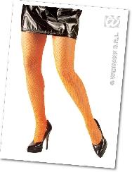 Panty rejilla naranja fluor