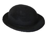 Sombrero bombin flocado