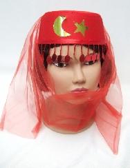 Sombrero árabe con velo