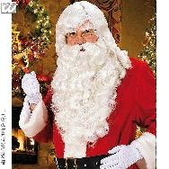 imagen Peluca y barba Santa Claus lujo