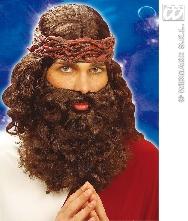 Peluca y barba Hebreo castaña