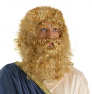 Peluca y barba Rey Mago rubia