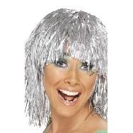 Peluca metalizada plata