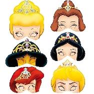 6 Caretas cartón princesas