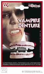 Dentadura doble de látex con colmillos