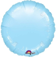 Globo  circulo azul pastel