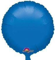 Globo circulo azul metal