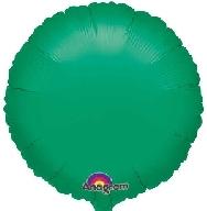 Globo circulo verde metal