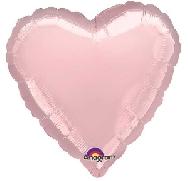 Globo corazón rosa pastel