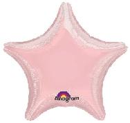 Globo  estrella rosa pastel