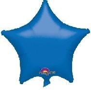imagen Globo estrella azul metal