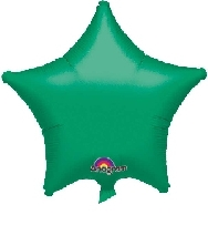 Globo estrella verde metal