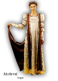 Disfraz de Medieval mujer