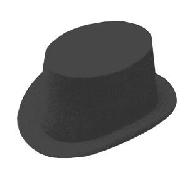 Sombrero chistera flocado