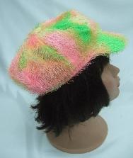 Gorra hippie naranja y verde