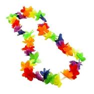 Collar hawaiano flores