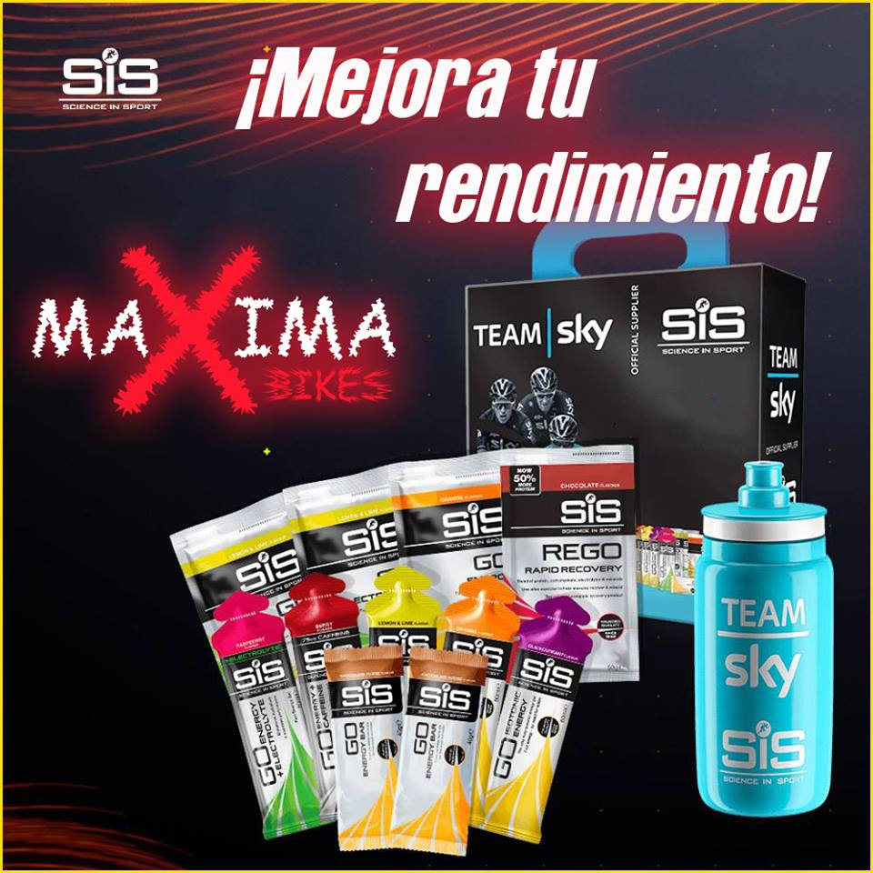 Foto SIS se incorpora a la lista de productos de maxima bikes