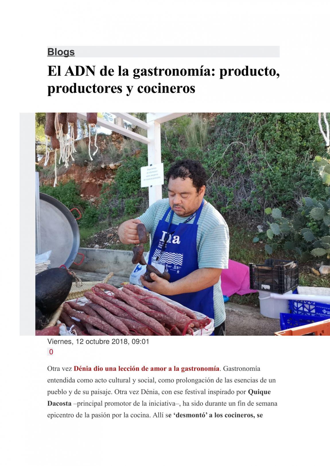 Foto historias con delantal, jesú Trelis Levante