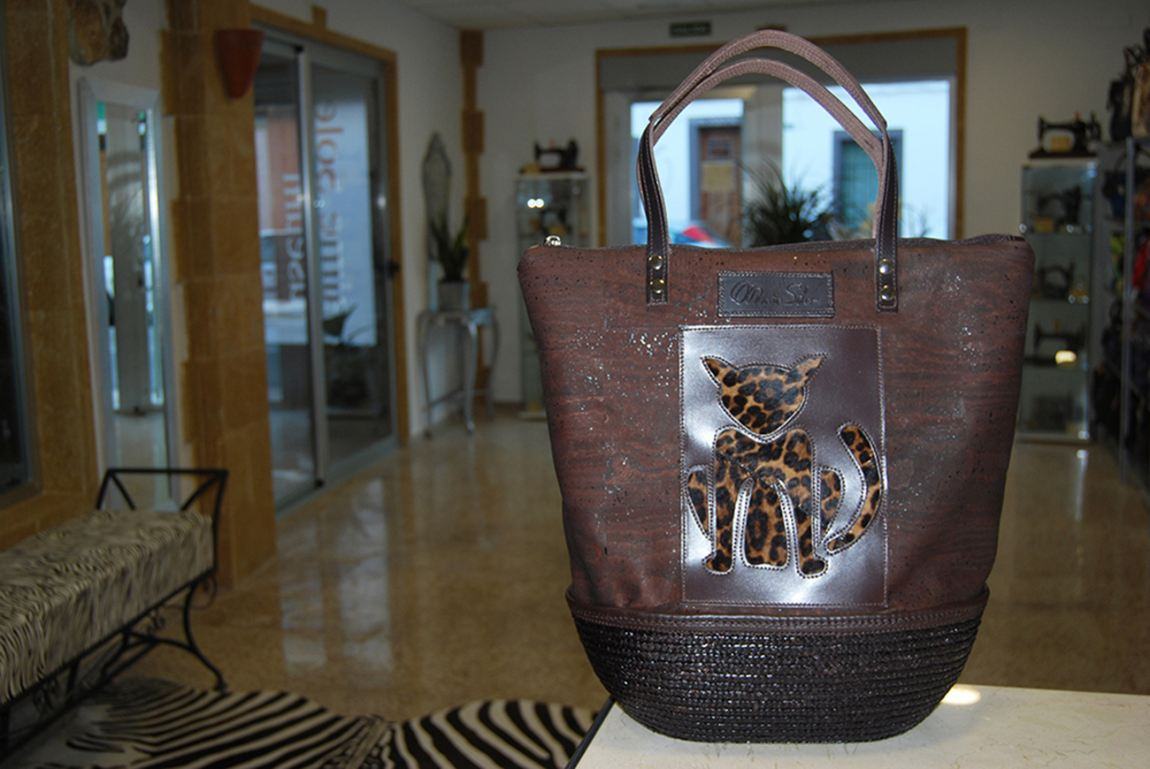 Picture Sisal-Cork Bag by MARIA SOLER
