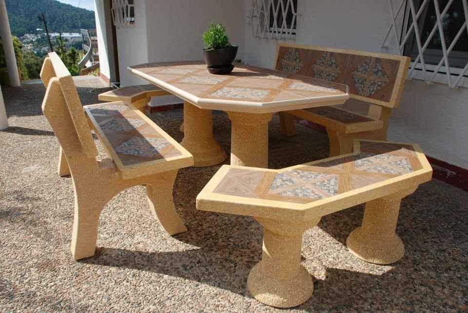 Mesas de jardín en piedra, la pieza que faltaba en nuestra decoración
