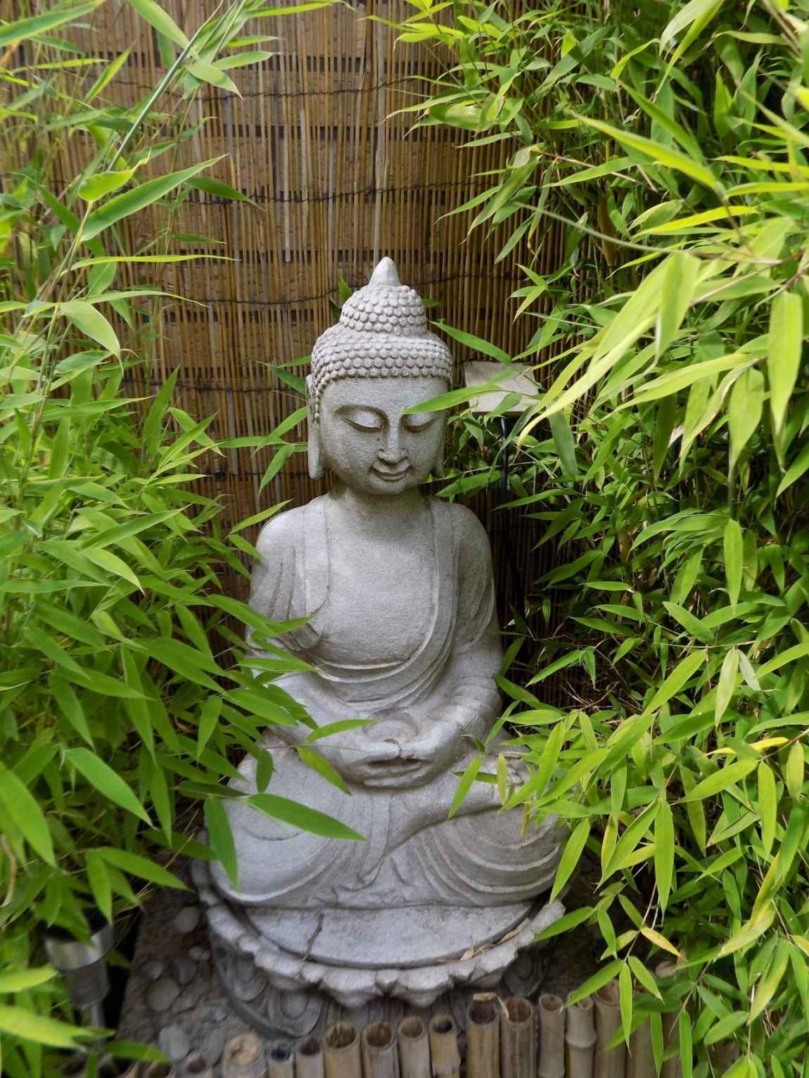 El significado de decorar nuestro jardín con figuras de Buda
