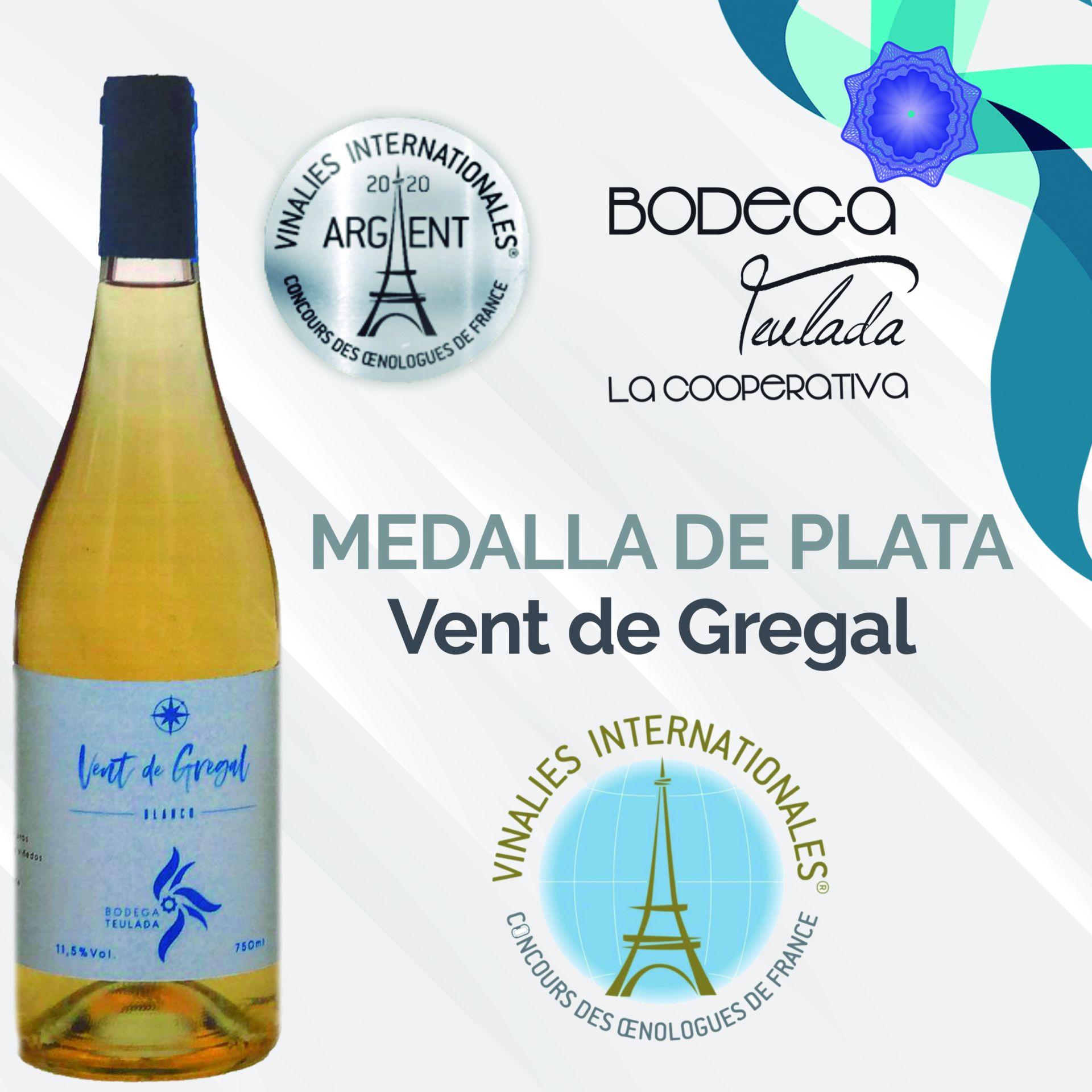 Medalla de plata Vent de Gregal en el Vinalies