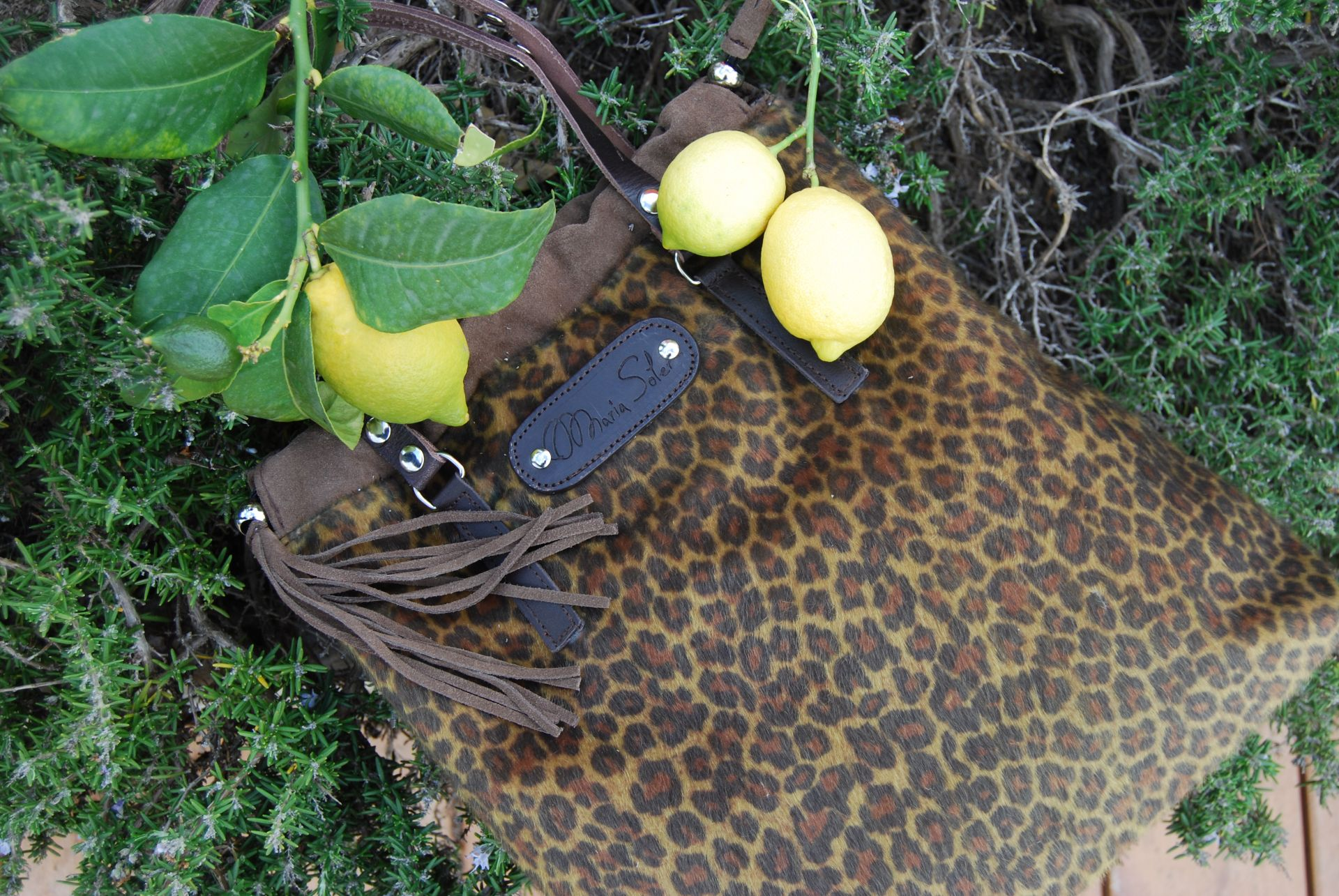 Picture AMUR bag, ecofriedly bolso de leopardo