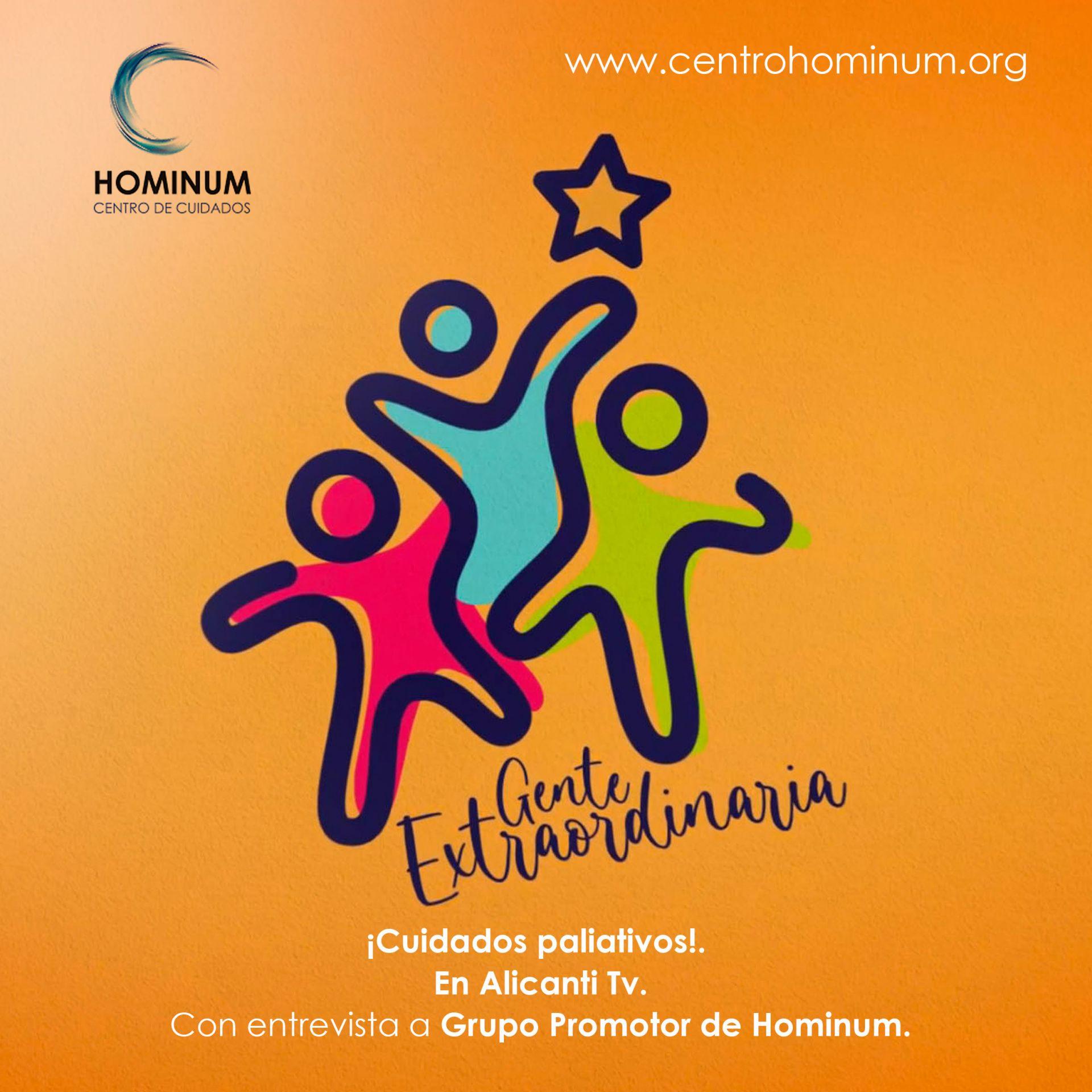 ¡Cuidados paliativos!.  En Alicanti Tv. Con entrevista a Grupo Promotor de Hominum.