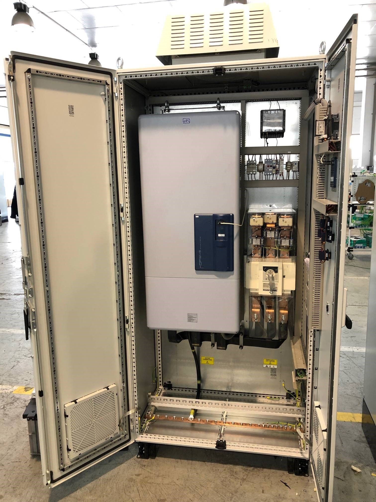 Picture WEG AUTRIAL SUPPLIES VFD PANEL FOR A GAS COMPRESSOR APPLICATION LOCATED IN BELGIUM
