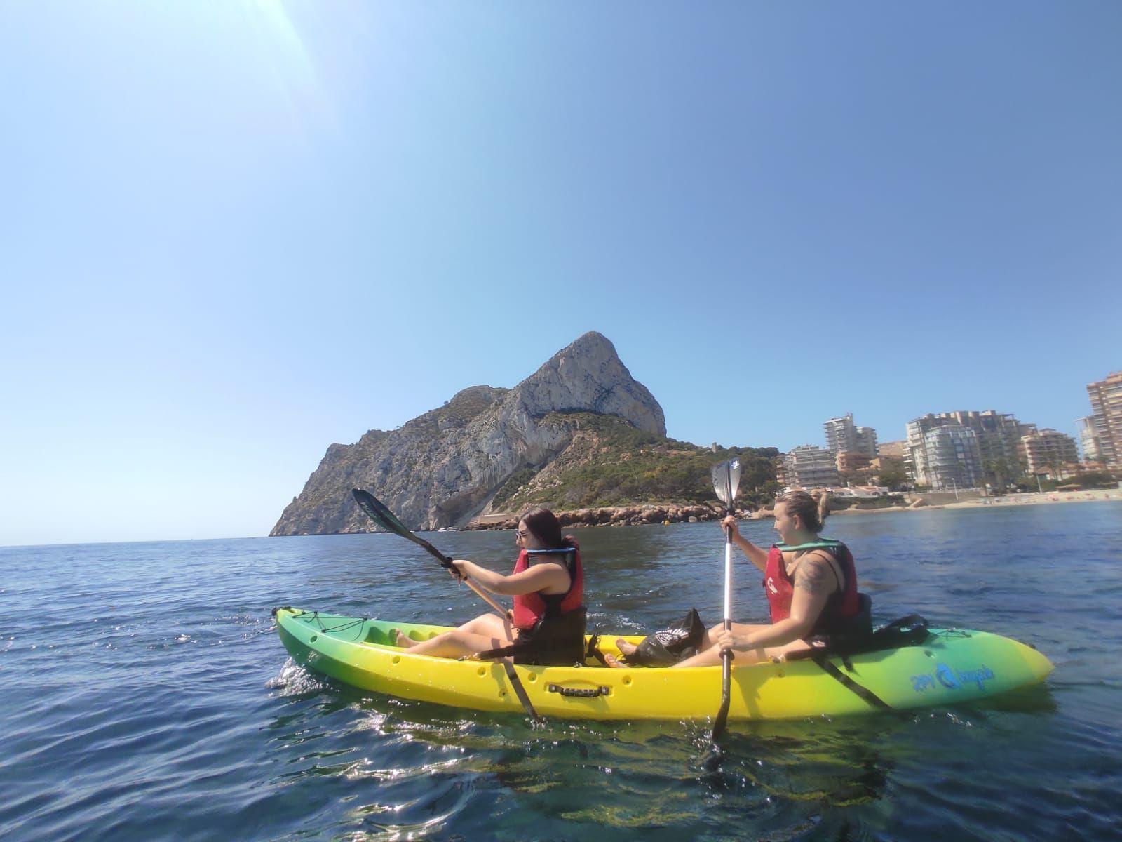 Excursión kayak peñon de Ifach Calpe